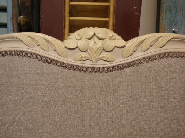 SOLD - Very Large French Bed - 2m Wide - New Upholstery - hc83